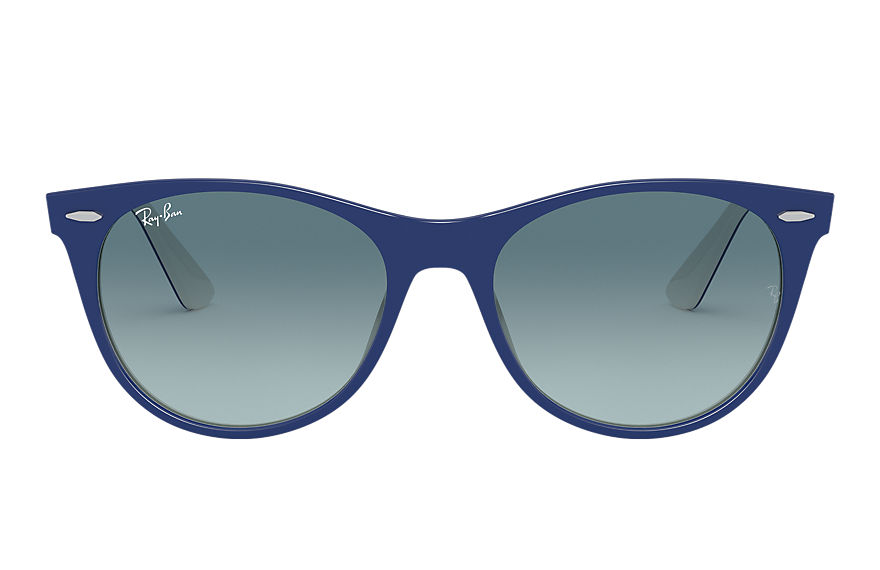 Ray-Ban Wayfarer II Classic Blue, Blue Lenses - RB2185