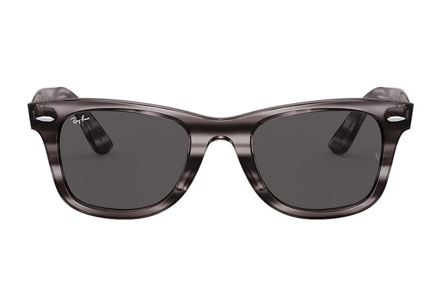 Ray-Ban Wayfarer Ease Striped Grey Havana, Grey Lenses - RB4340