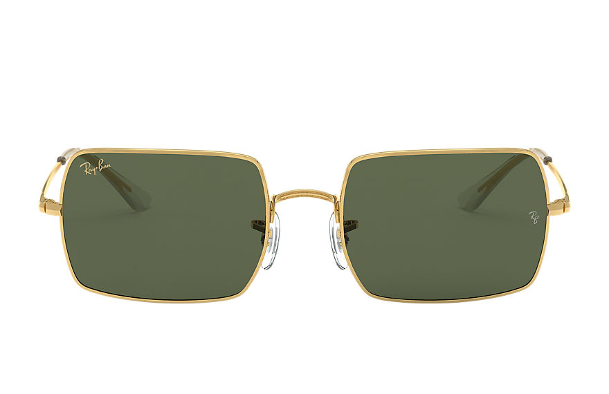Ray-Ban Rectangle 1969 Legend Gold Gold, Green Lenses - RB1969