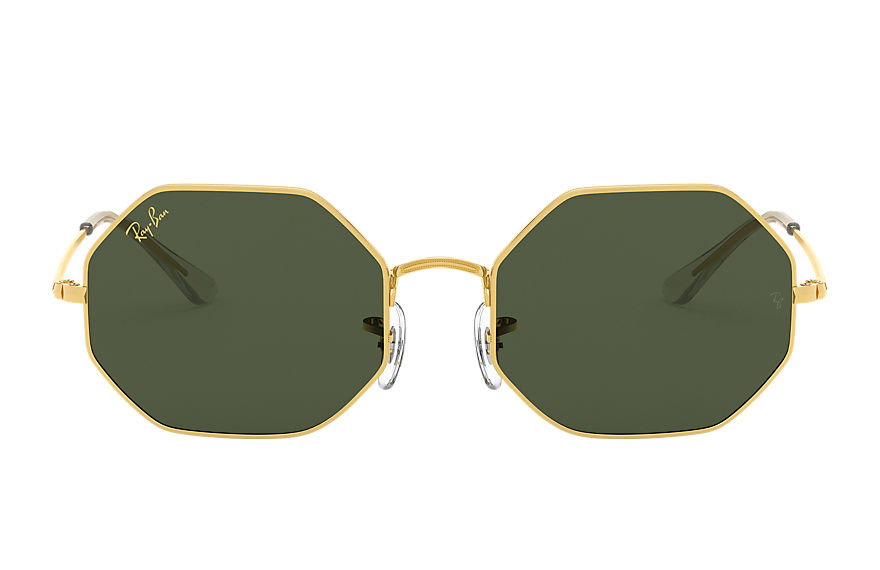 Ray-Ban Octagon 1972 Legend Gold Gold, Green Lenses - RB1972