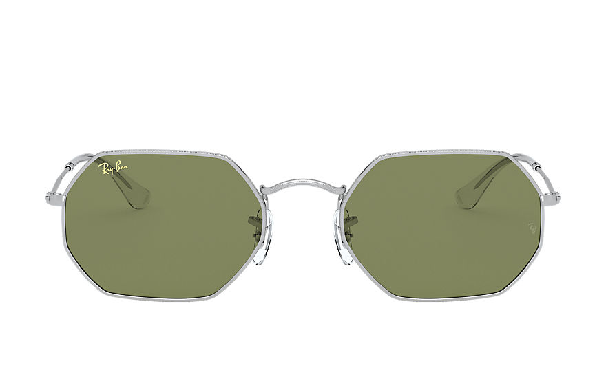 Ray-Ban Octagonal Legend Gold Silver, Green Lenses - RB3556
