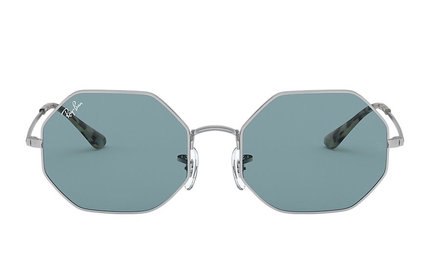 Ray-Ban Octagon 1972 Silver, Blue Lenses - RB1972