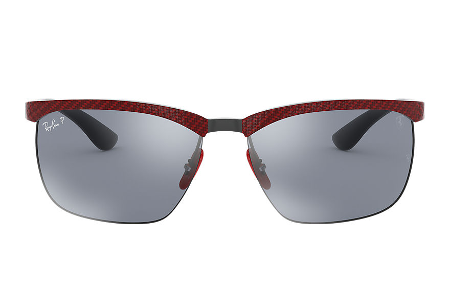 Ray-Ban Rb8324m Scuderia Ferrari Collection Red, Polarized Blue Lenses - RB8324M