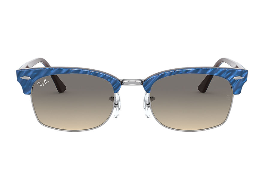 Ray-Ban Clubmaster Square Wrinkled Blue, Gray Lenses - RB3916