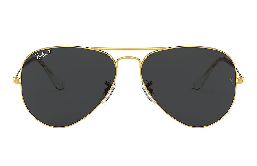 Ray-Ban Aviator Classic Gold, Polarized Black Lenses - RB3025