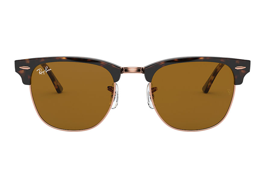 Ray-Ban Clubmaster Classic Shiny Havana, Brown Lenses - RB3016