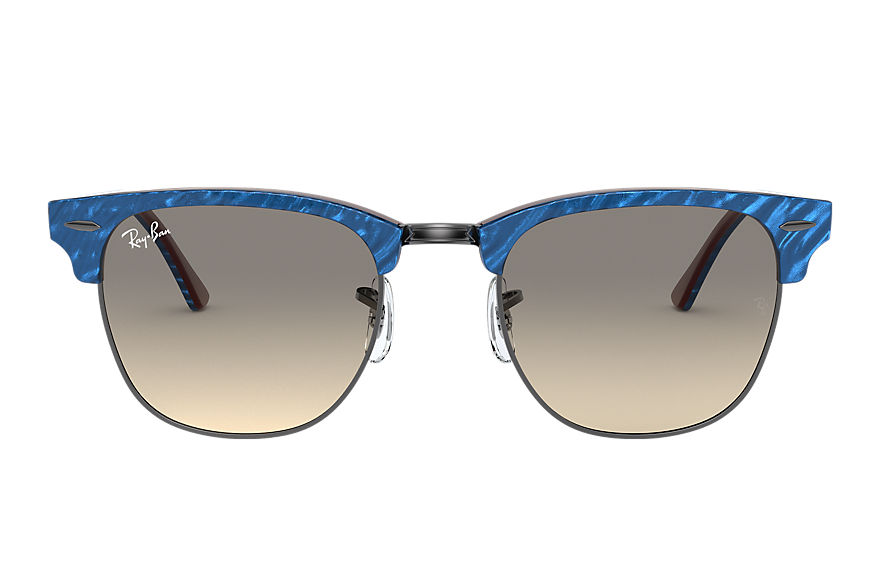 Ray-Ban Clubmaster Marble Wrinkled Blue, Gray Lenses - RB3016