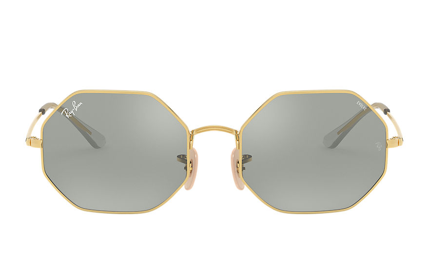 Ray-Ban Octagon 1972 Mirror Evolve Gold, Grey Lenses - RB1972