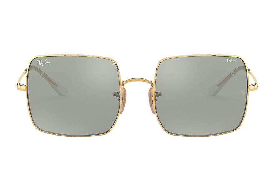 Ray-Ban Square 1971 Mirror Evolve Gold, Grey Lenses - RB1971