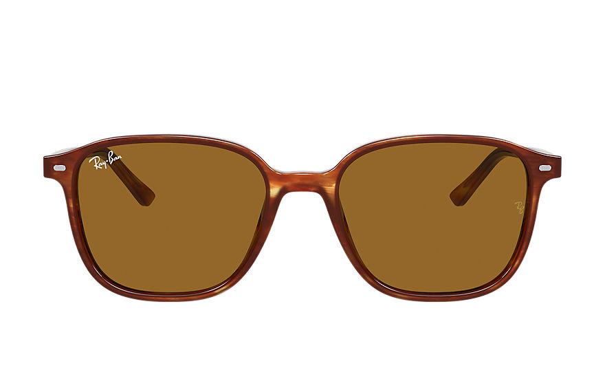 Ray-Ban Leonard Striped Havana, Brown Lenses - RB2193