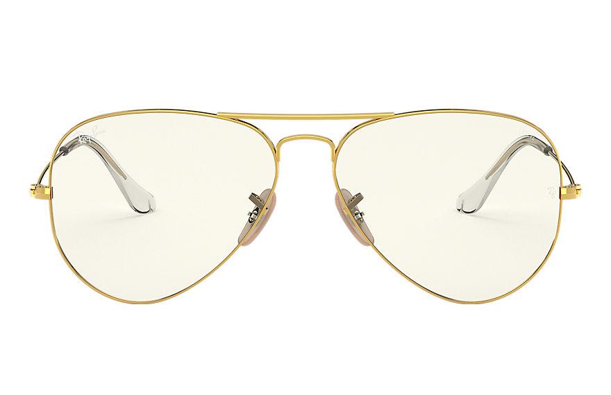 Ray-Ban Aviator Clear Evolve Shiny Gold, Grey Lenses - RB3025