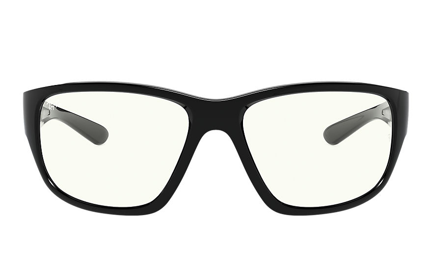 Ray-Ban Rb4300 Clear Shiny Black, Clear Lenses - RB4300