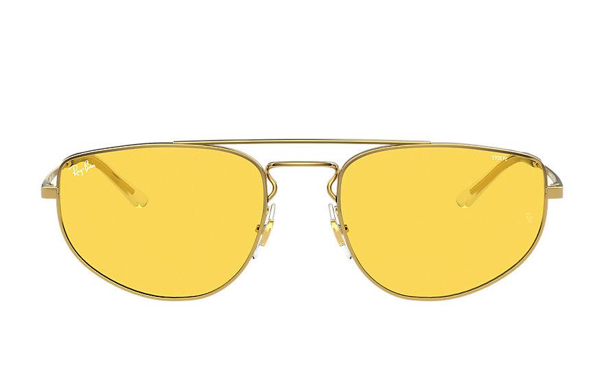 Ray-Ban Rb3668 Shiny Gold, Yellow Lenses - RB3668
