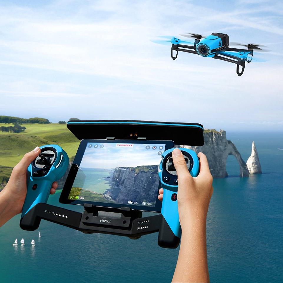 parrot bebop drone 14 mp full hd 1080p fisheye camera