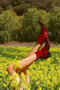 Mexicana Circus Stars Red Western Ankle Boots