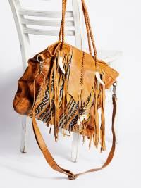 Free People Canyonland Tote Mustard Tribal Bag