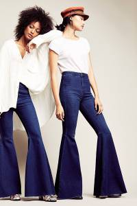 Free People Just Float On Rich Blue Flare Jeans