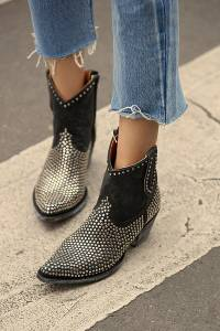 Mexicana Western Studded Ankle Boot