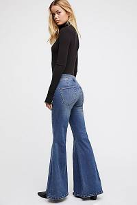 Free People Low Rise Denim Flare Jeans