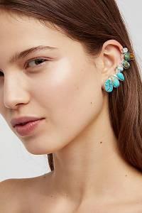 "Paloma Stipp Boho Earrings ""Raw Stone Ear Climber"""