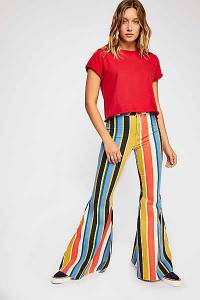 """Free People Jeans """"Just Float On"""" Striped '70s Flares"""