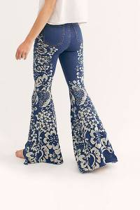 "Free People Flare Jeans ""Just Float On Young Hearts"""