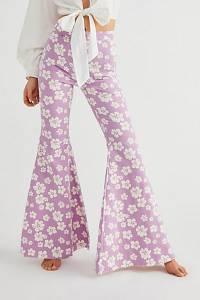"""Free People Flare Jeans """"Just Float On Hibiscus"""""""