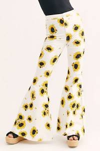 """Free People Flare Jeans """"Just Float On Sunflowers"""""""