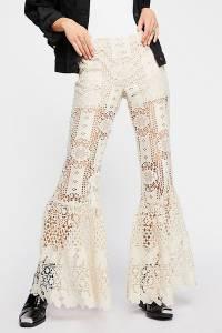 "Anna Sui Bohemian Flared Lace Pants ""Guipure"""