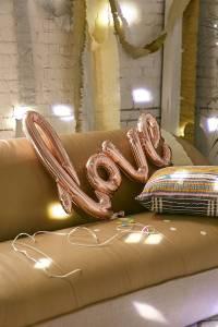 Rose Gold LOVE Balloon Valentines Decor