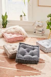 Corduroy Tufted Boho Floor Pillow