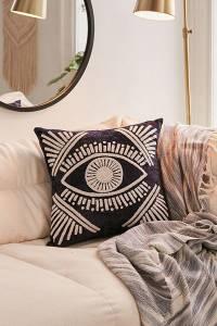 Magic Eye Velvet Throw Pillow