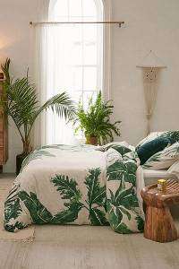 Expressive Palms Duvet Cover Bedding