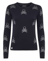 """Philipp Plein Women's Knitwear """"SKULL"""" Pullover"""