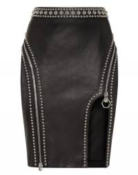 "Philipp Plein Leather Skirt ""CRAZY SHAPE"" Studded"