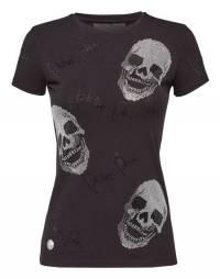 "Philipp Plein Women's Skull T-Shirt ""NOW FLY"""