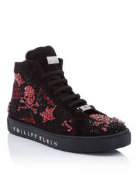 "Philipp Plein Hi-Top Sneakers ""THE SHOCK OF THE LIGHTNING"" Skulls"