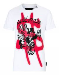 "Philipp Plein Men's T-Shirt ""MONOPOLI MONEY"" White"