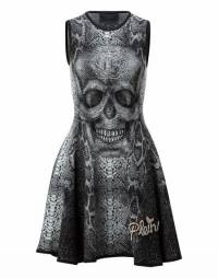 "Philipp Plein Women ""LAREE GRAIG"" Skull Knit Dress"