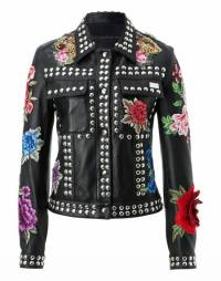"Philipp Plein Leather Jacket ""MANTONI"""