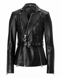 "Philipp Plein Women ""APRILE FERGUSON"" Leather Jacket"