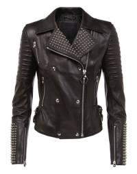 "Philipp Plein Women's Leather Biker Jacket ""DUNN MARLENE"""