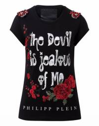 "Philipp Plein ""JEALOUS OF ME"" Black T-Shirt"