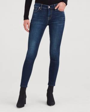 7 For All Mankind B(air) Authentic Denim Ankle Skinny in Fate