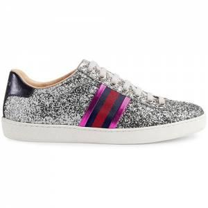 Gucci Women Ace Silver Glitter Sneaker