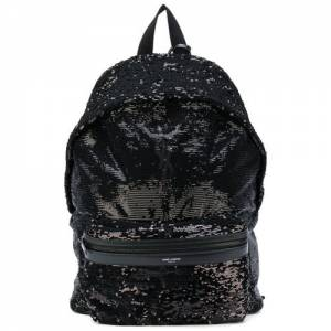 Saint Laurent Men Classic City Sequin Black Backpack