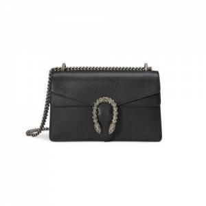 Gucci Women Dionysus Small Black Shoulder Bag