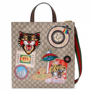 Gucci Courrier Soft GG Supreme Leather Tote