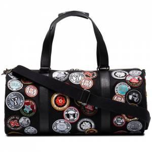 Saint Laurent Noe Multi Patch Travel Duffle Bag
