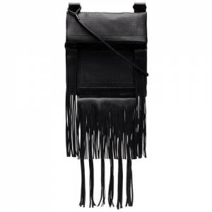Saint Laurent Men Fringe Leather Messenger Bag
